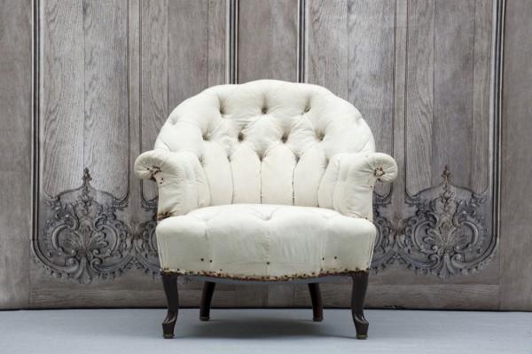 Fåtölj i stilen Napoleon III med rundad rygg - inredning