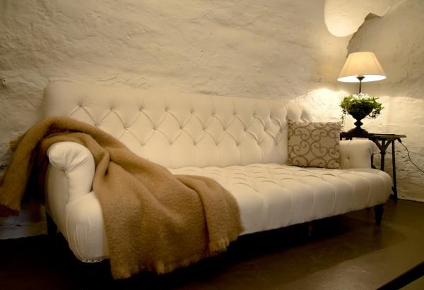 Fransk vit soffa