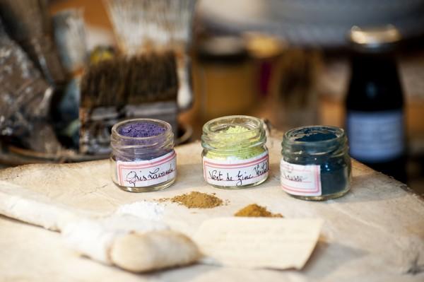 Tre pigmentburkar - inredning