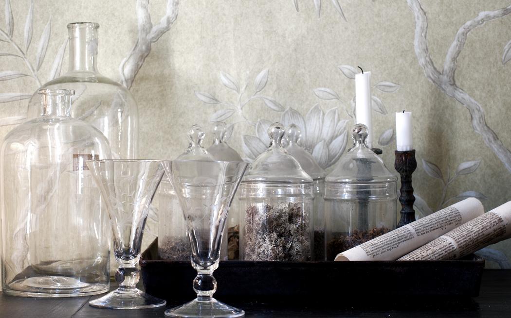 Glas – inredning på Det Franska Testamentet, inredningsbutik i Stockholm